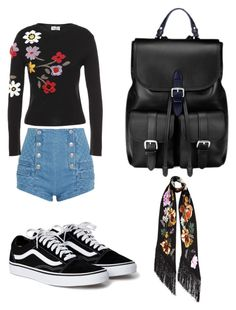 """flower  day"" by marutza28 ❤ liked on Polyvore featuring Pierre Balmain, RED Valentino, Aspinal of London and Rockins"