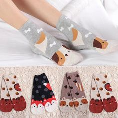 17c710fd1a2 2017 New Arrived Hot Women Socks Ladies Girls Cotton Warm Soft Sox Casual  Boots Knee Fashion Socks Antiskid Invisible Liner - ShopShopShip