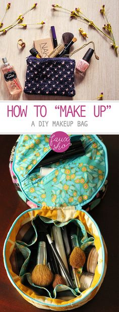 "How to ""Make Up"" a DIY Makeup Bag