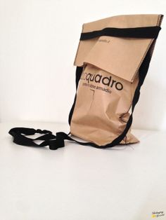 messenger shape cement bag | postman in carta cucita