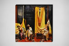 """Marco Ortolan; Oil, 2013, Painting """"The rest of the gypsies"""""""