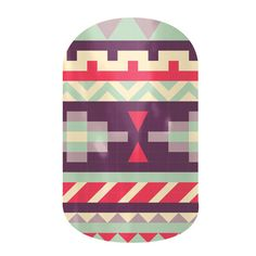 Aztec Evening  nail wraps by Jamberry Nails