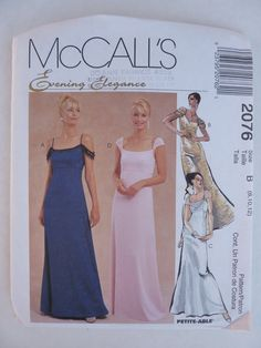 1990s UNCUT McCall's Sewing Pattern 2076 Formal by angelpress, $7.00