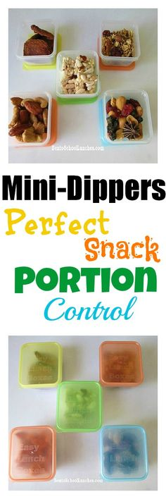 EasyLunchboxes Mini-Dippers are PERFECT for snack portion control!