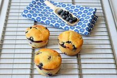 Healthy low FODMAP blueberry muffins with lemon. A perfect low FODMAP snack! ✓ Only 145 calories ✓ Gluten-free ✓ Lactose-free ✓ Sweetened with maple syrup Lactose Free Milk, Sans Lactose, Sans Gluten, Gluten Free, Healthy Blueberry Muffins, Blue Berry Muffins, Healthy Baking, Healthy Snacks, Muffins Sains