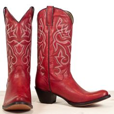 Red cowboy boots. Tony Mora boots are the most stylish cowboy boots.