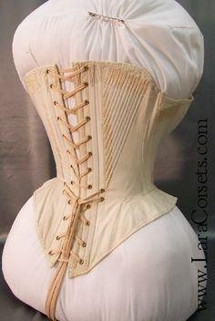 1850's riding corset back.