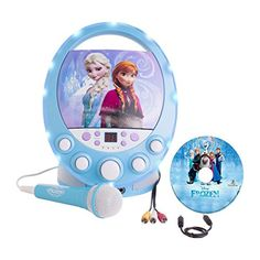 "Frozen Disney Disco Party CD+G Karaoke with Light Sing along with Anna, Elsa, Kris off, Sven and Olaf to ""Let It Go"" and the rest of their songs. The Disney Disney Frozen Toys, Lego Disney, Disney Toys, Disney Karaoke, G Song, Frozen Songs, Frozen Elsa And Anna, Elsa Anna, Popular Toys"