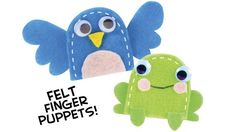 A Quick and Easy Craft Project: Homemade Felt Finger Puppets : Parentables