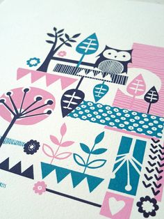 NOT ON THE HIGHSTREET OWL PRINT by bubble and tweet