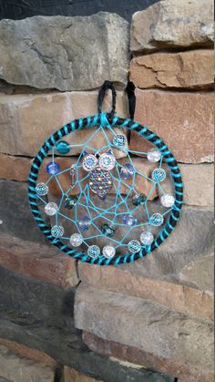 Blue Owl Dream Catcher by YourWeavingDreams on Etsy