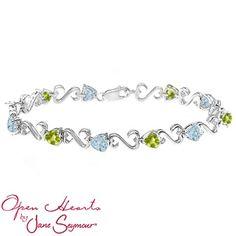Jared - Color Stone Heart Bracelet