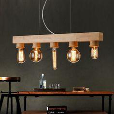 Suspension avec des ampoules a filament LED