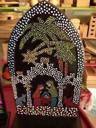 Resultado de imagen para virgen Maria Auxiliadora puntillismo Christmas Rock, Christmas Crafts, Christmas Decorations, Dot Art Painting, Mandala Painting, Nativity Painting, Nativity Crafts, Nativity Sets, Auction Projects