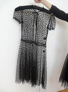 M//Medium BLACK Stretch Baby-Doll Long Top,Mini Dress M79