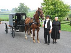 Older amish couple