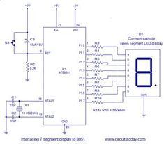 Led interfacing with 8051 microcontroller at89s52 interfacing 7 segment display to 8051 micro controller ccuart Image collections