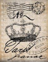 Antique Paris French Crown No 2 Postmarks Fancy Ornate Handwriting Papel Vintage, Vintage Paper, Vintage Art, Images Vintage, Vintage Pictures, Vintage Labels, Vintage Ephemera, Foto Transfer Potch, Paper Art
