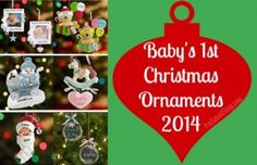 Baby's First #Christmas Ornaments 2014 - #giftideas #baby #babies #keepsakes www.preschoolshop.com/gifts-2/babys-first-christmas-ornaments-2014/