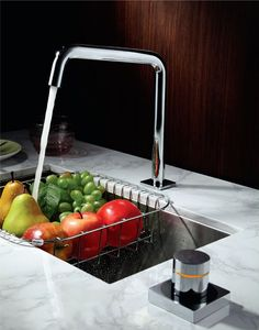 Top of the range electronic Kitchen mixer. For any top notch kitchen design. Kitchen Mixer, Kitchen Taps, Kitchen Electronics, Sink Mixer Taps, May Designs, Water Faucet, Kitchen Design, Food, Home Decor