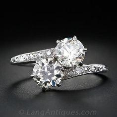 1.68 Carat Twin-Diamond Ring, Circa 1920