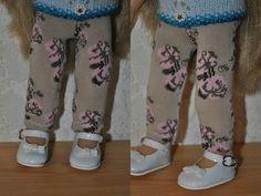 Tuto leggins pour Chéries, faits avec des bas pour dame.  Les Chéries leggins made with ladies' socks, tutorial.