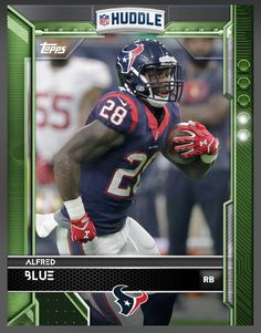 Alfred Blue Houston Texans Green Parallel Card 2016 Topps HUDDLE