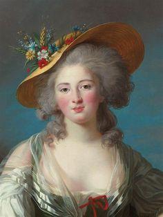 Detail of Elisabeth Philippine Marie Hélène de France by Elisabeth Vigée-Lebrun, 1782 http://www.photo.rmn.fr/LowRes2/TR1/NX0DO/05-524458.jpg