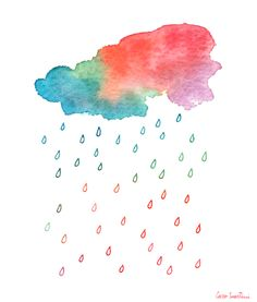 I find this painting inspiring.   I feel like this is what rain is really supposed to look like.  It's raining joy!!