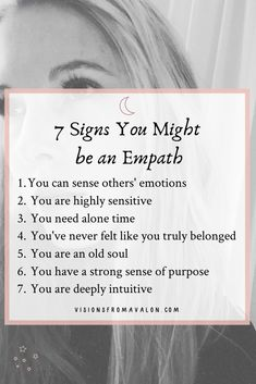 Are you deeply sensitive and able to pick up on others' emotions? Here are 7 signs you might be an empath. Empath Traits, Intuitive Empath, What Is An Empath, Being An Empath, New Business Quotes, Highly Sensitive Person, Meditation For Beginners, Mind Body Soul, Quotable Quotes