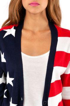 Lady Liberty Cardigan #USA