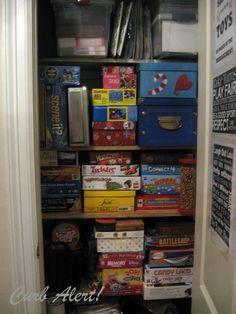 Game Closet, Horizontal Storage | Game Closets I Love | Pinterest | Storage