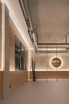 Gallery of Flow Yoga and Movement Studio / Nan Arquitectos - 7 Exposed Brick, Yoga Flow, Ceiling Lights, Studio, Gallery, Photograph, Wellness Center, Commercial, Image