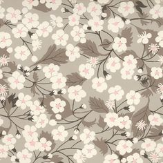 Tissu liberty of London ® motif Mitsi Gris clair (x 0,25m)