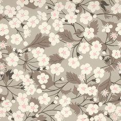Tissu liberty of London ® motif Mitsi Gris clair (x 0,25m)