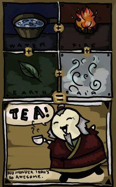 Tea bending. Only Uncle Iroh... :) my inner dork just wont stop smiling :D