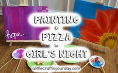 Painting Pizza = Girls Night #YouBeTheJudge #DiGiorno #CleverGirls #ad