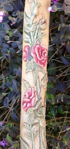"Meet ""Rose"" the carved walking stick - by TJ65 @ LumberJocks.com ~ woodworking community"