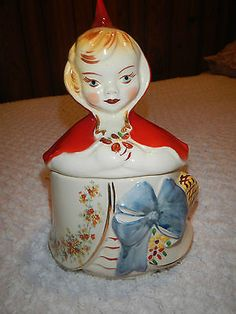 Hull pottery Little red riding hood DRESSER JAR *RARE*book price 700.00