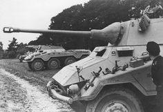 A Sd.Kfz 234/2 Puma armored car and a SdKfz 234/3 armored car