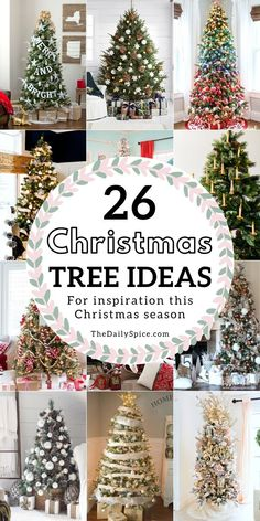 Check out these 26 gorgeous Christmas tree ideas that you'll want to copy this year! Get fun and festive with these Christmas tree decorating ideas! Rainbow Christmas Tree, Burlap Christmas Tree, Christmas Tree Themes, Christmas Traditions, Christmas Tree Decorations, Christmas Time, Christmas Wreaths, Christmas Ideas, Christmas Crafts