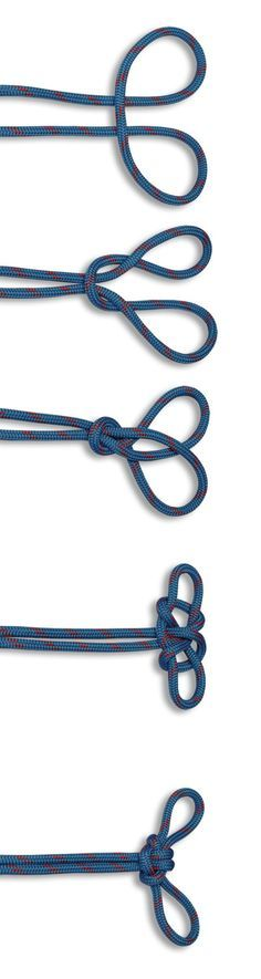 The Spanish Bowline contains two adjustable loops, joined by the same rope. In the HOW TO TIE KNOTS, learn how to tie a Spanish Bowline. Rope Knots, Macrame Knots, Tie The Knots, Survival Knots, Survival Skills, Micro Macramé, Fishing Knots, Paracord Projects, Boy Scouts