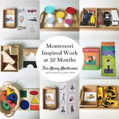 Montessori Inspired Work at 20 Months