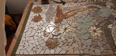 Still in progress - Mosaic Tiling Fish for bathroom floor Tiling, Bathroom Flooring, Mosaic, Fish, Painting, Home Decor, Art, Art Background, Painting Art