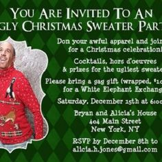 ugly sweater christmas party invitation ~ | noël ☆ | pinterest, Party invitations