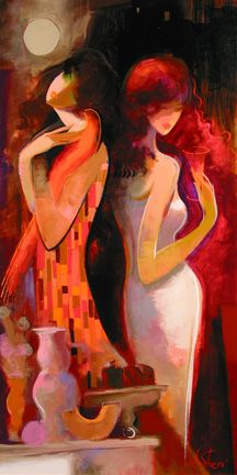 The Art of Irene Sheri Abstract Face Art, Abstract Portrait, Art And Illustration, Nature Paintings, Beautiful Paintings, Hand Kunst, Romantic Artwork, Art Pictures, Photos