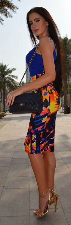 Colorful Skirt Chic Style by Laura Badura Fashion