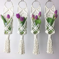 Image result for macrame plant hangers