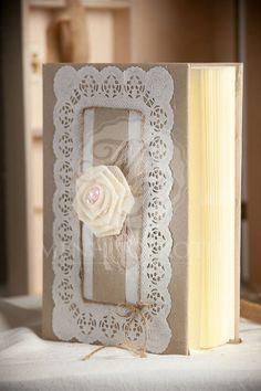 Vintage handmade guest book