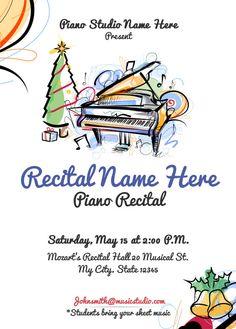 christmas recital program piano lessons pinterest recital programming and pianos. Black Bedroom Furniture Sets. Home Design Ideas
